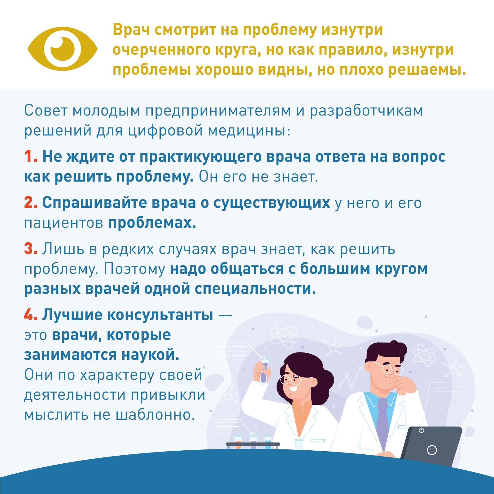 Почему у врача не стоит спрашивать решение типовой проблемы
