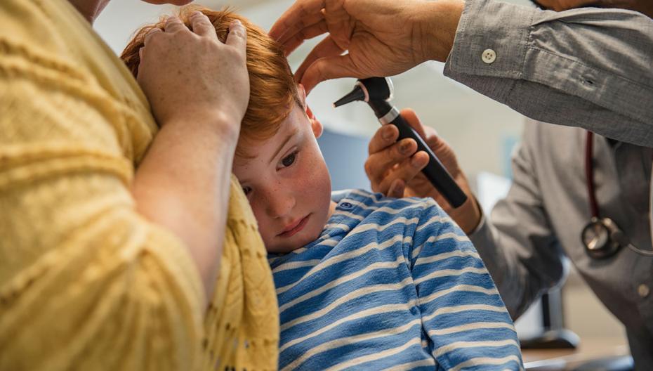 Ультразвуковой сенсор для диагностики инфекций среднего уха
