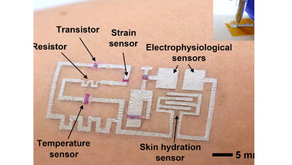 Нарисовать биомедицинское устройство на коже