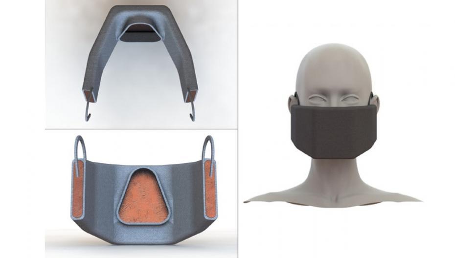 Нагреваемая маска для фильтрации и деактивации коронавирусов
