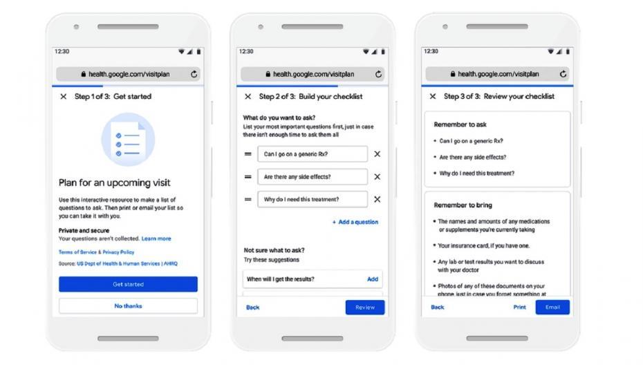 Google Health разрабатывает систему, помогающую пациентам подготовиться к приему у врача