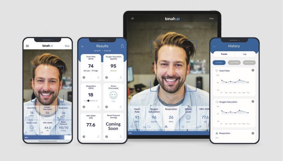 Binah.ai: Система мониторинга на базе смартфона