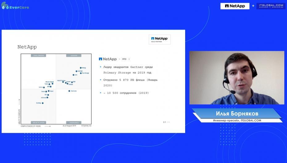 Илья Борняков - NetApp технологии