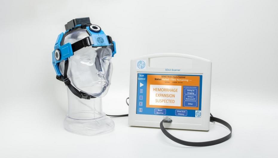 Неинвазивный сканер мозга для мониторинга внутричерепных кровоизлияний
