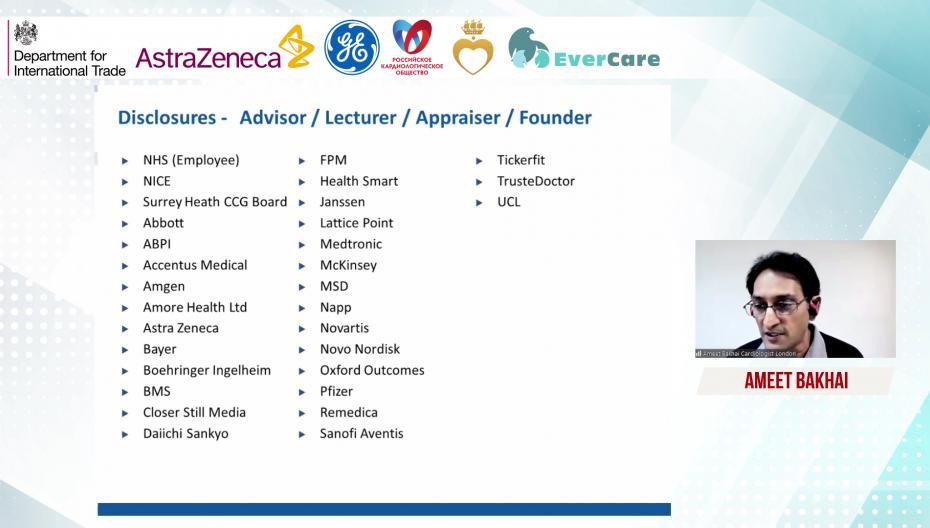 Ameet Bakhai - Опыт применения цифровых инструментов в клиниках Лондона