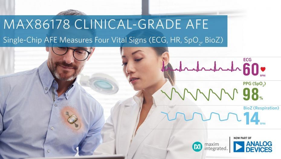 Новый чип Analog Devices измеряет четыре жизненно важных показателя здоровья