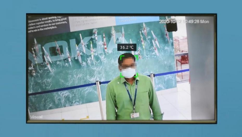 Автоматическая система обнаружения COVID-19 для публичных зданий