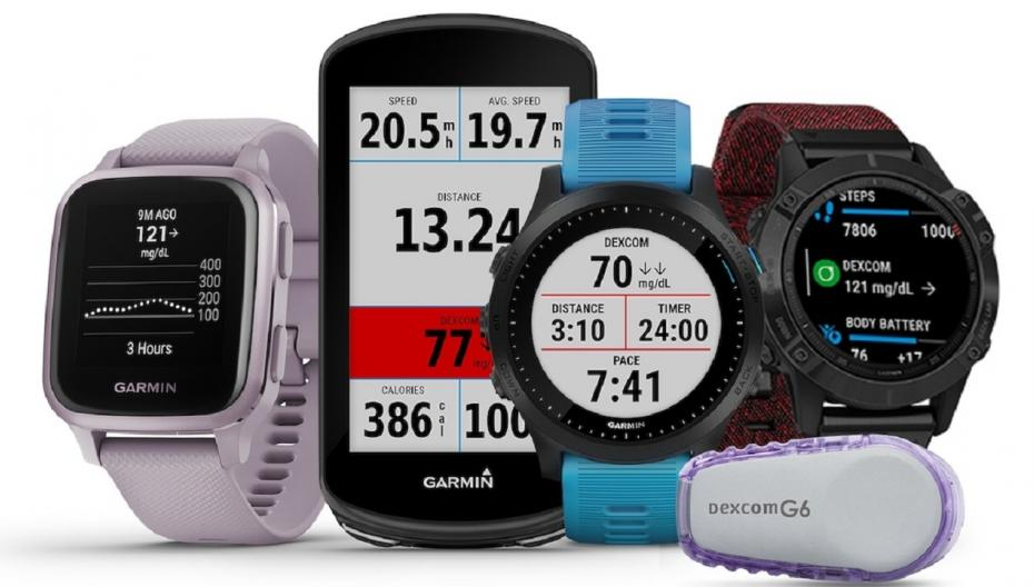"""Garmin интегрирует в свои """"умные"""" часы данные о диабете из системы Dexcom G6 CGM"""