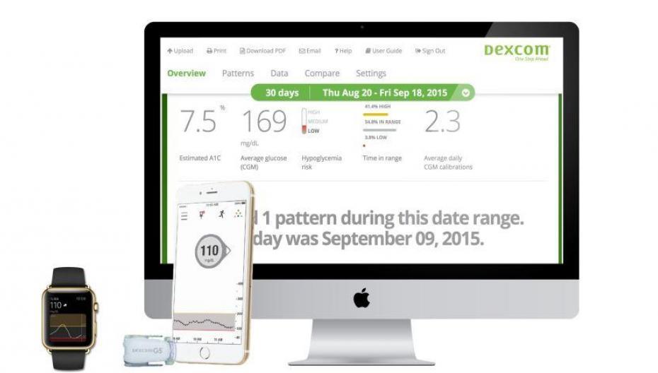 Dexcom дополнила свою систему для диабетиков облачным решением