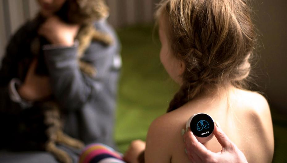 Беспроводной стетоскоп для обнаружения проблем дыхания у детей