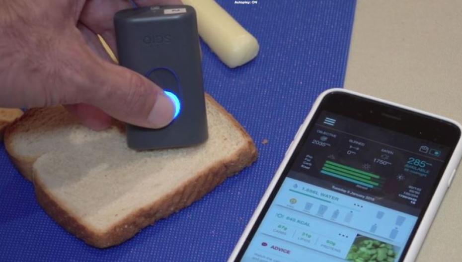 Приложение, помогающее контролировать питание с помощью компактного спектрометра