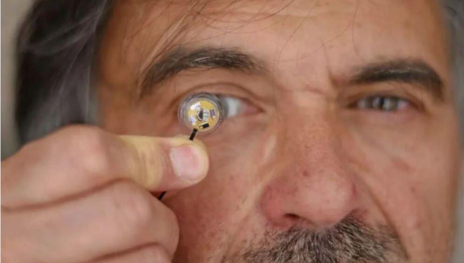 Электронные контактные линзы со встроенным питанием