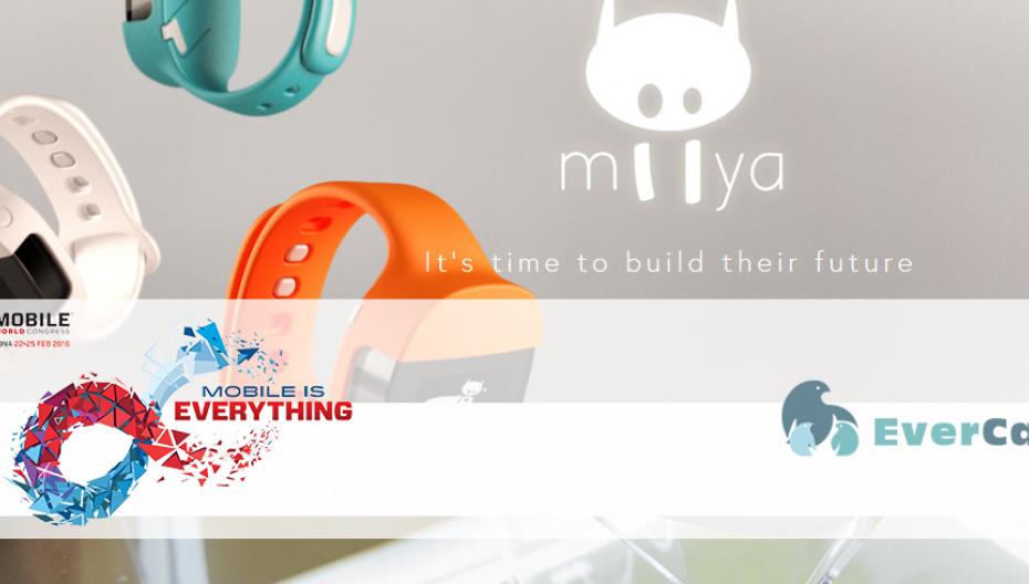 Фитнес-трекер для детей Miiya. Evercare на Mobile World Congress 2016