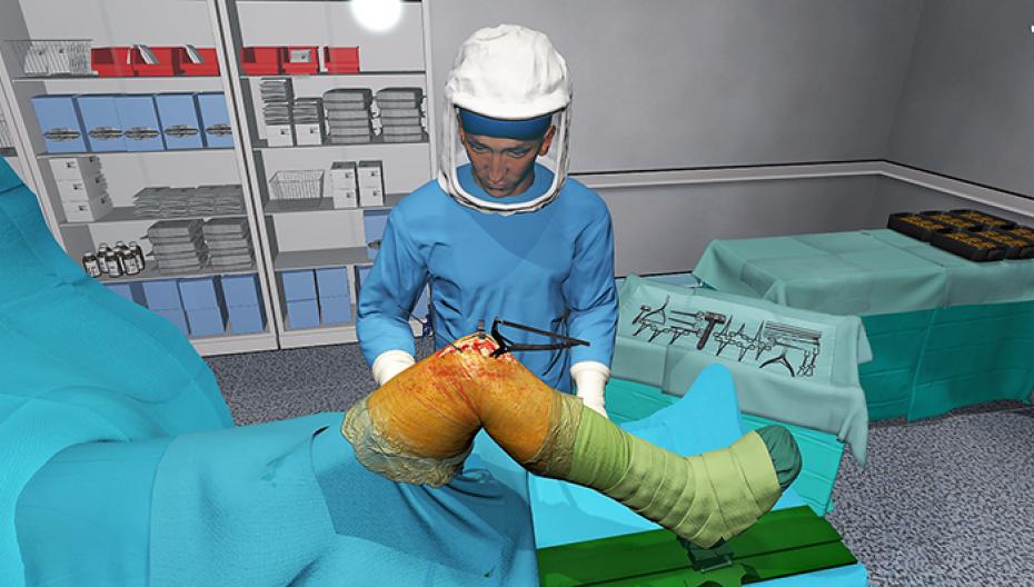 Инъекции анестетика в колено можно научиться в виртуальной реальности