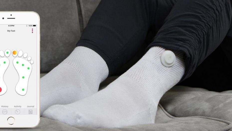Носки, которые следят за здоровьем ног диабетиков
