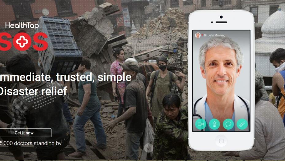 HealthTap SOS: мобильный сервис на случай катастроф