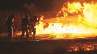 Сенсор для отслеживания пожарных в горящих зданиях