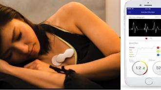 ЭКГ-сенсор, который может использоваться на тренировке и во сне