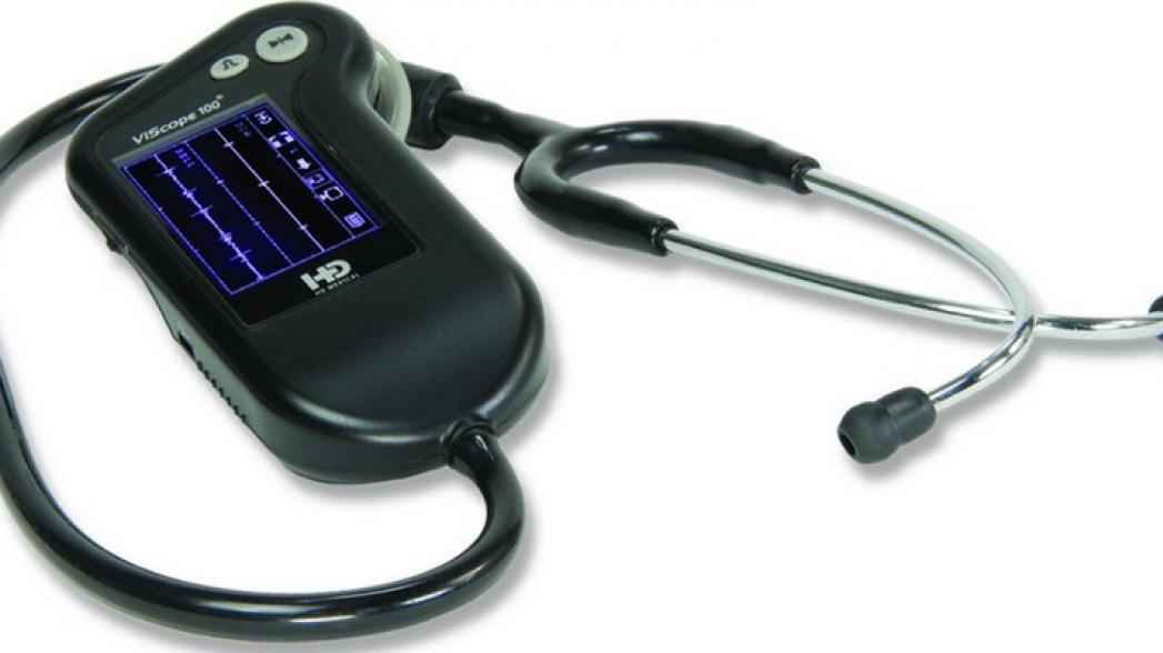 ViScopeMD–электронный стетоскоп,отображающий аудио-кардиограмму на жидкокристаллическом дисплее