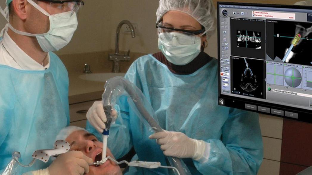 Хирургическая навигационная система для имплантации в стоматологии