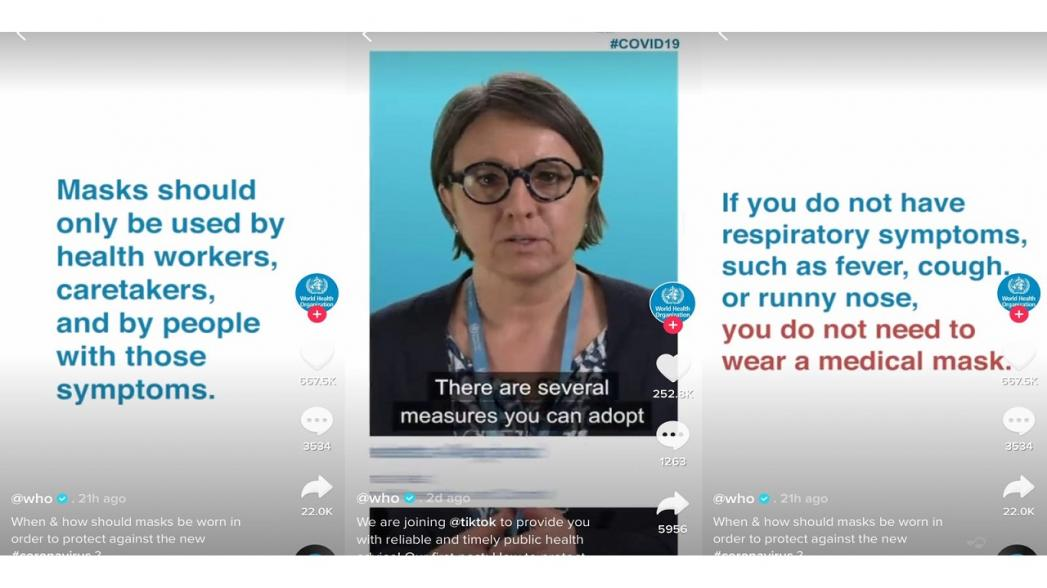 ВОЗ присоединилась к TikTok, чтобы размещать информацию о коронавирусе среди потока мемов и вранья