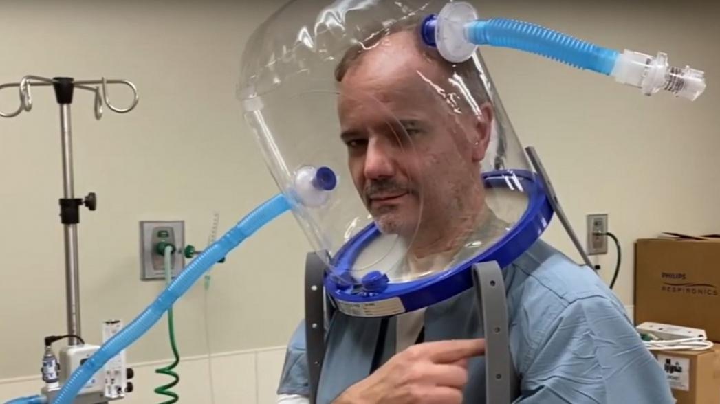Аппарат ИВЛ в виде шлема снижает нагрузку на медицинский персонал
