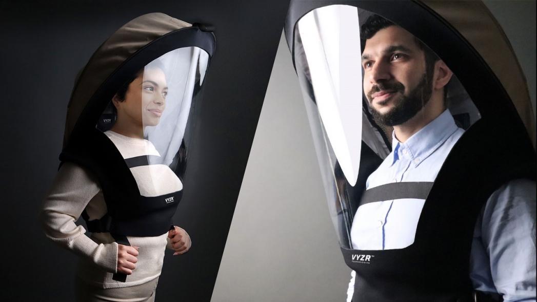Шлем с фильтрацией воздуха для защиты от COVID-19