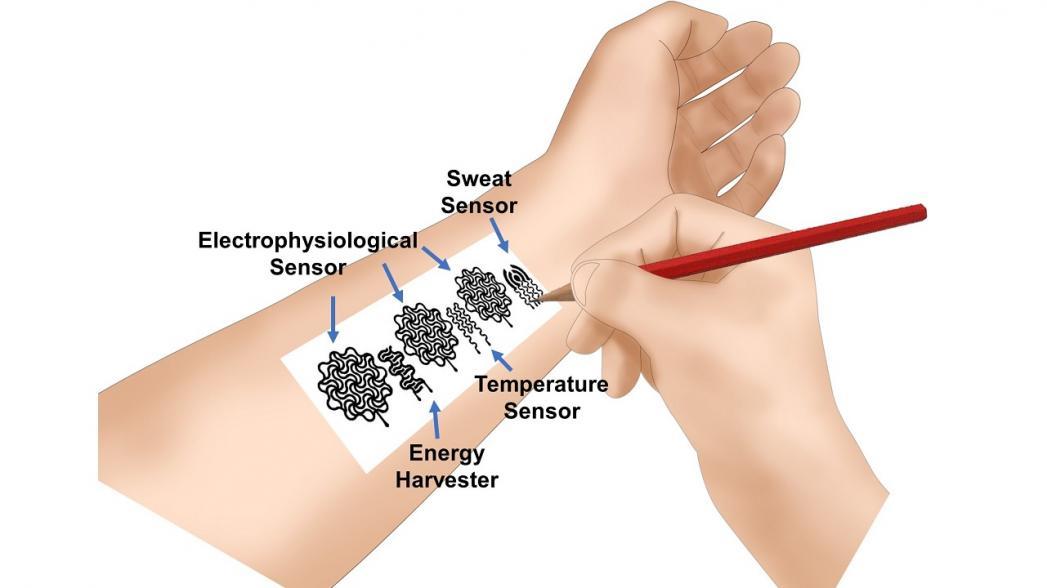 Нарисовать свои собственные биомедицинские сенсоры, используя карандаш и бумагу