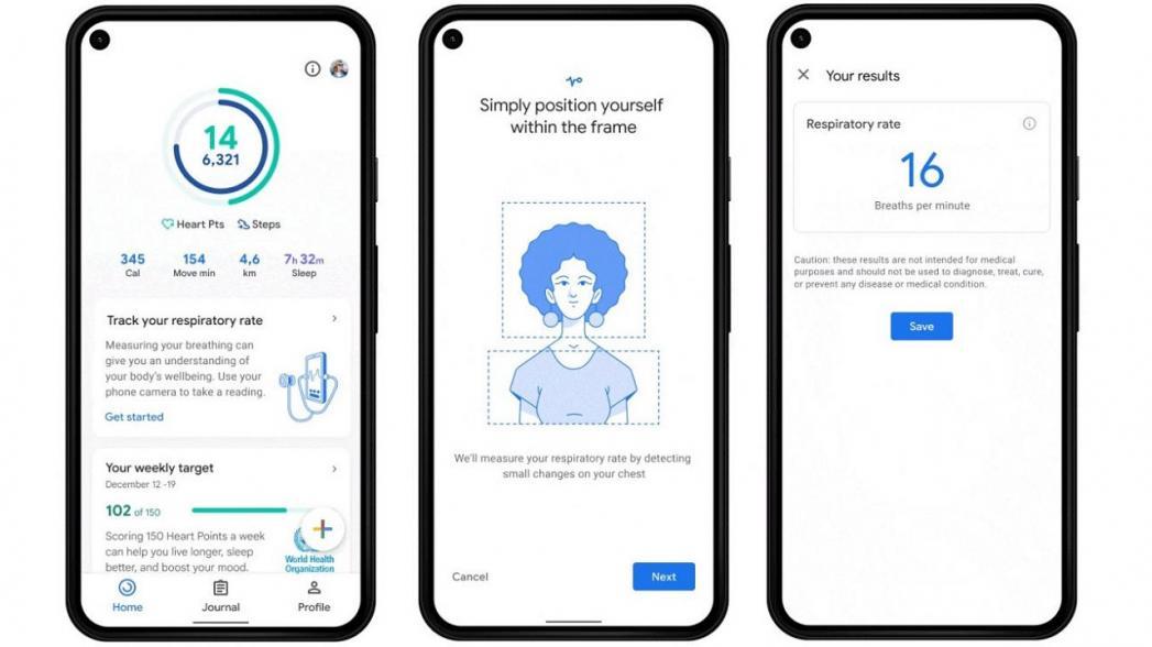 Смартфон с Google Fit сможет контролировать частоту сердцебиения и дыхания