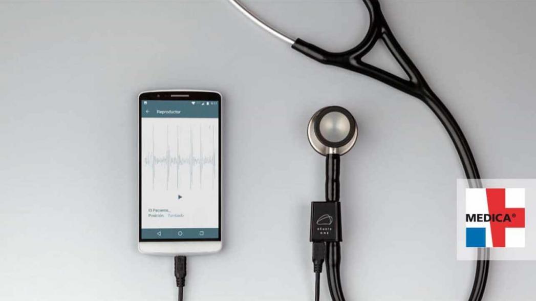 eKuore разработала цифровой интерфейс для обычного стетоскопа