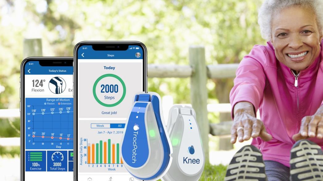 Носимое устройство для контроля восстановления после замены коленного сустава