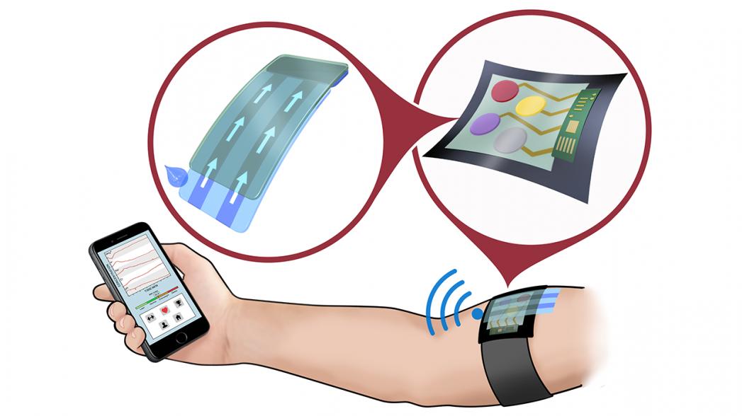 Сенсор пота для измерения различных параметров при мониторинге заболеваний