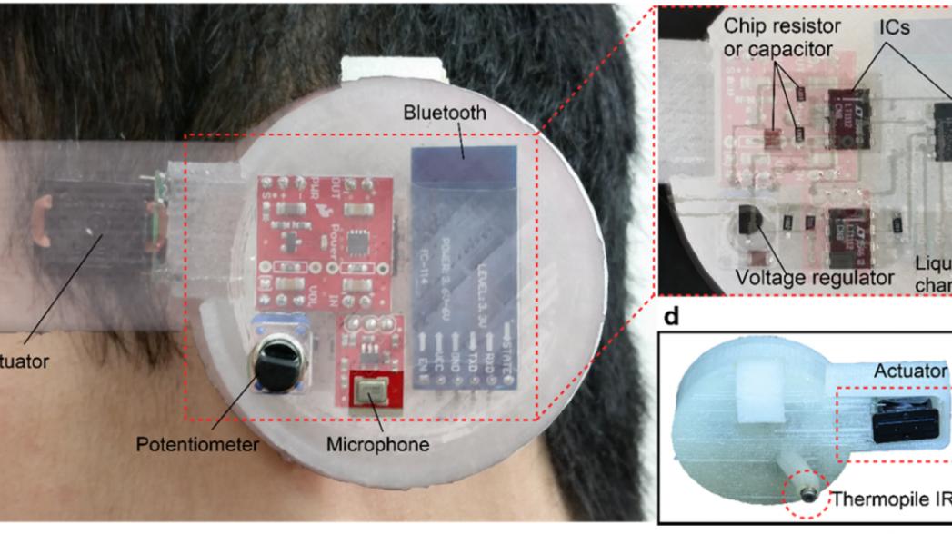 Ушной сенсор для измерения внутренней температуры