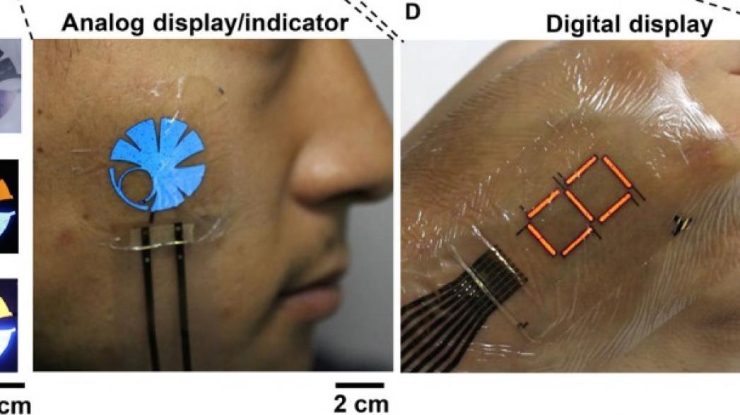 Ультратонкая гибкая электроника со встроенным дисплеем