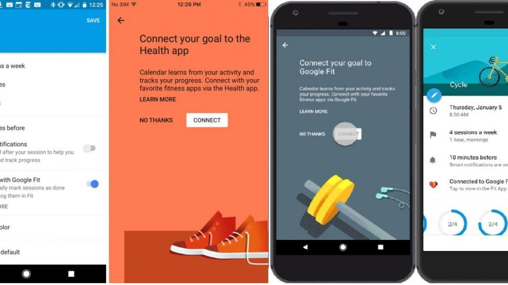 Google Calendar интегрировали с Google Fit и Apple Health