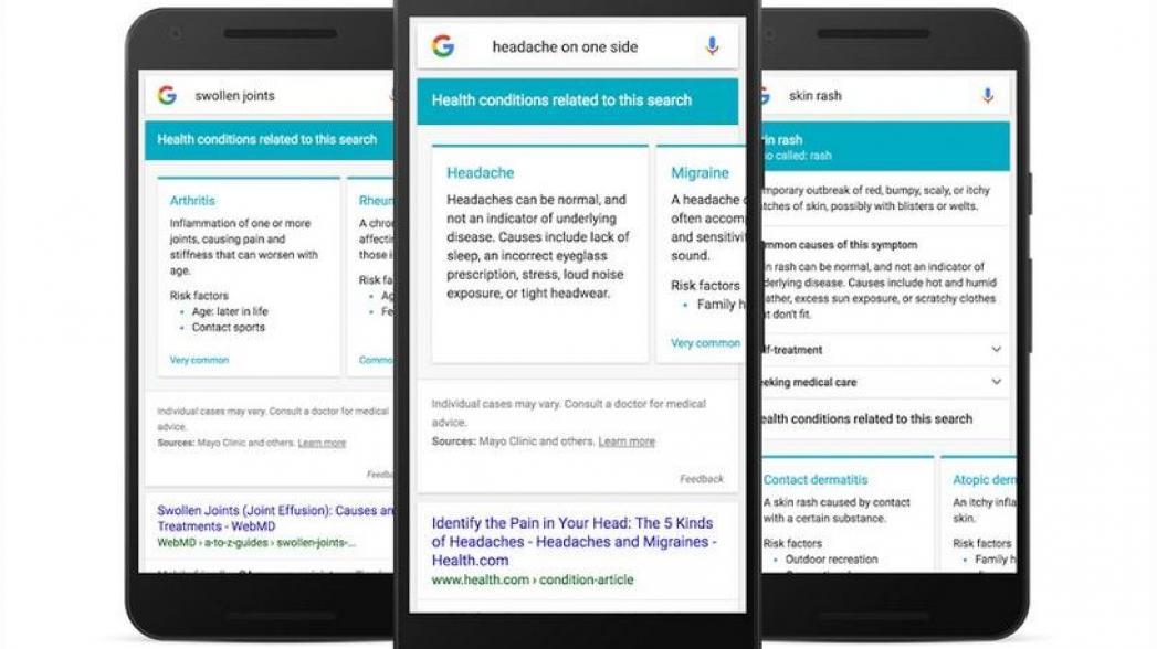 Google вводит новый поиск по симптомам заболеваний