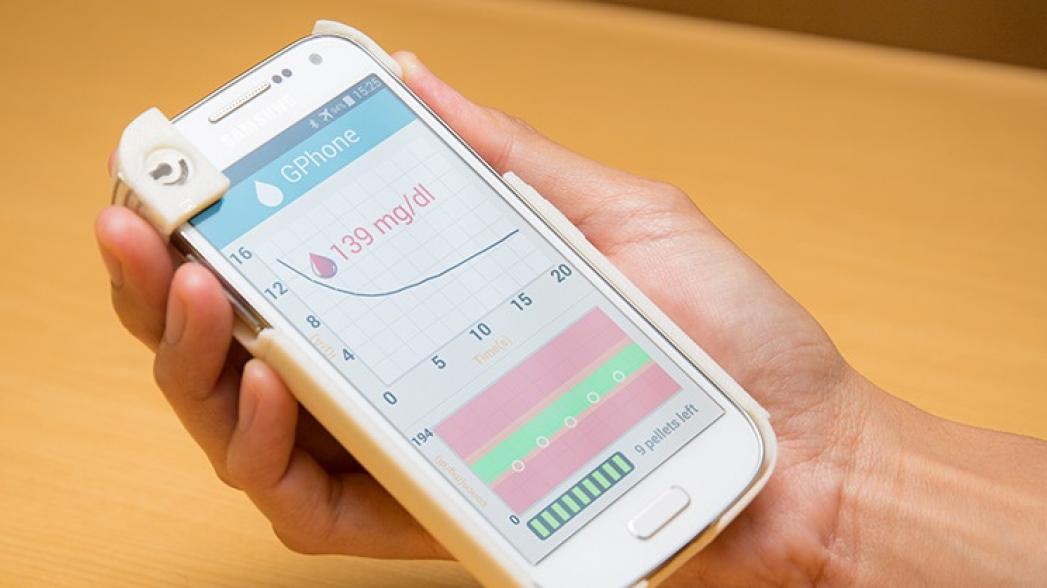 Глюкометр, интегрированный в смартфон