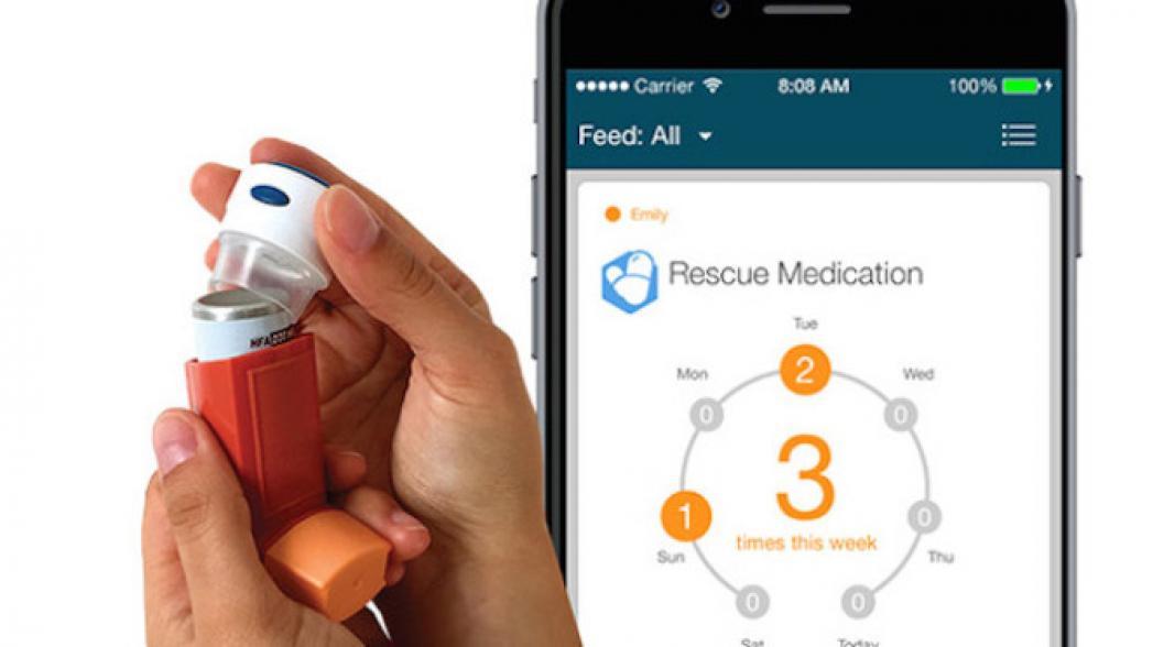 Ингалятор для астматиков с интегрированным сенсором лекарств