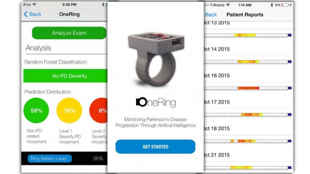 Кольцо для пациентов с болезнью Паркинсона