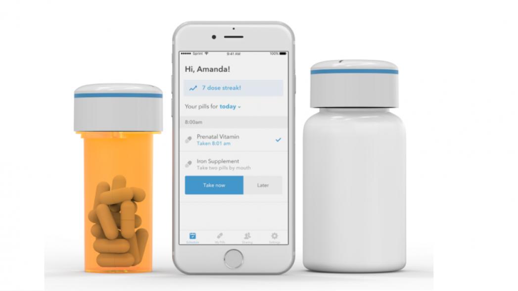 Умная бутылочка для таблеток контролирует их прием