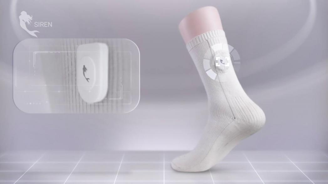 Носки с сенсорами для непрерывного мониторинга диабетической нейропатии