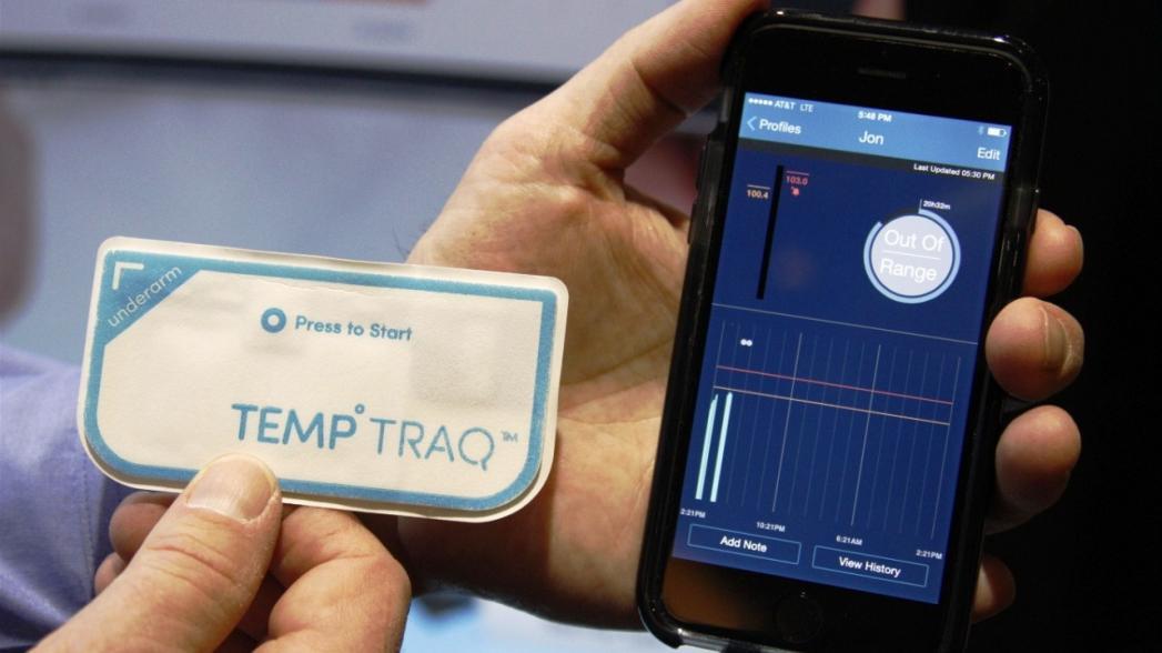 Носимый беспроводной монитор температуры TempTraq скоро появится в европейских аптеках