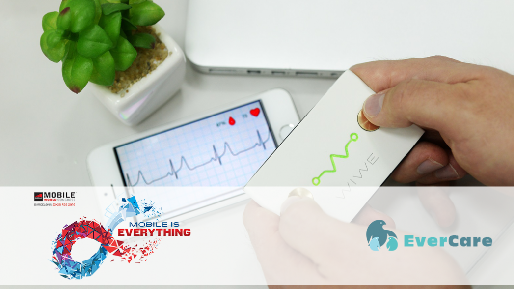 Карманный электрокардиограф WIWE. Evercare на Mobile World Congress 2016