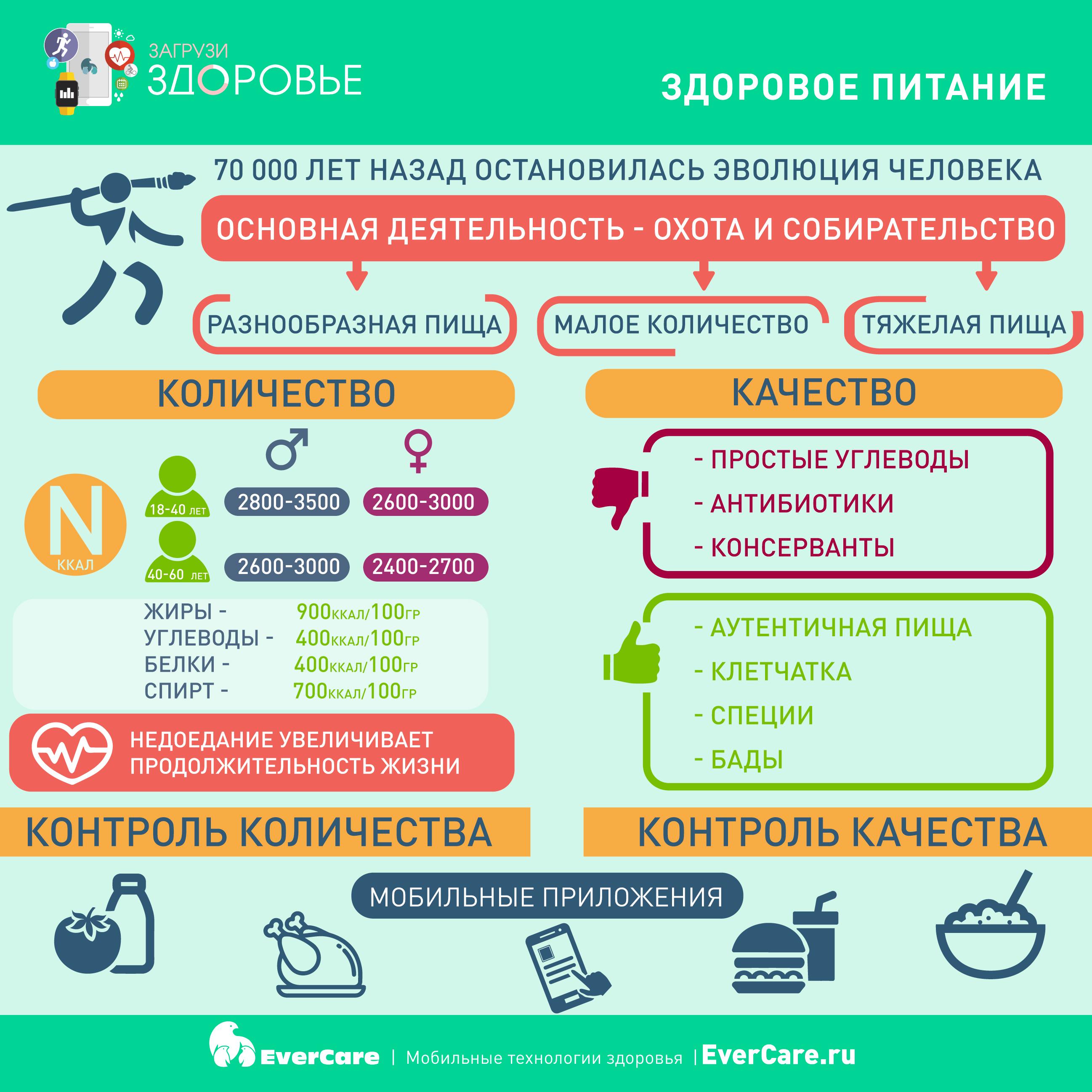 Здоровое питание, Инфографика